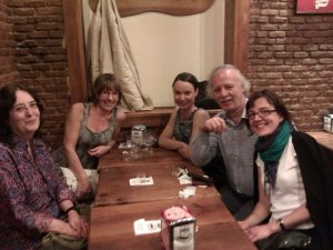 ACLAIIR committee members enjoying Madrid.