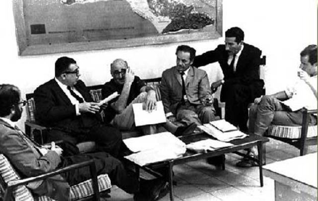 Allen Ginsberg, José Lezama Lima, J. M. Cohen, Nicanor Parra & Jaime Sabines/ the Jury of the Casa de las Américas Poetry Prize of 1965. El Premio Literario Casa de las Américas is a literary award given by the Cuban cultural institution Casa de las Américas (Havana). Established in 1959, it is one of Latin America's oldest and most prestigious literary prizes.